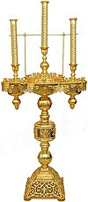 Церковный напольный подсвечник 80 свечей