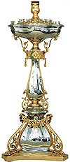 Церковный напольный подсвечник №14 (стекло) (45 свечей)