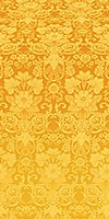"""Парча """"Глоксиния"""" (жёлтая/золото)"""