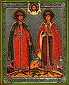 Икона: Святые Благоверные князья Борис и Глеб - 1