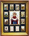 Икона настенная Покров Богородицы с иными почитамыми иконами.