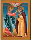 Икона: Явление Св. Ап. Иоанна Богослова Преп. Авраамию Ростовскому - AR651