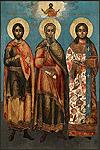 Икона: Св. мученики Гурий, Самон и Авив - AIB42