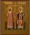 Икона: Свв. равноап. Император Константин и матерь его Елена - KE48