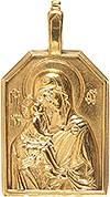 Православный нательный образок: Владимирская икона Пресв. Богородицы - 2