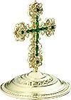 Крест на митру ювелирный - А623 (серебрение)