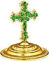 Крест на митру ювелирный - А678 (золочение)