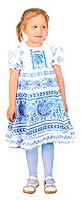 """Платье для девочек """"Гжель"""""""