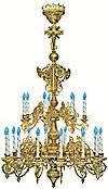 Двухъярусное церковное паникадило - 12 (21 свеча)