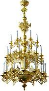 Трёхъярусное церковное паникадило - 3 (30 свечей)