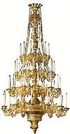 Четырёхъярусное церковное паникадило - 5 (48 свечей)