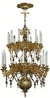 Двухъярусное церковное паникадило - 9 (25 свечей)