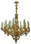 Одноярусное церковное паникадило - 11 (36 свечей)