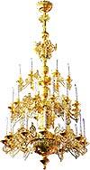 Трехъярусное церковное паникадило - 8 (30 свечей)