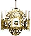 Бра (пол-хороса 0107) (5 свечей + лампада)