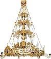 Трёхъярусное византийское паникадило с хоросом - 36 свечей