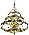 Трёхъярусное церковное паникадило (хорос) - 2 (228 свечей)