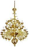 Двухярусное церковное паникадило -14 (27 свечей)
