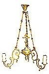Одноярусное церковное паникадило -15 (3 свечей)