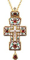 Крест наперсный с украшениями №026e