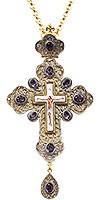 Крест наперсный с украшениями №021
