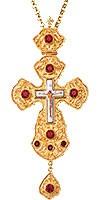Крест наперсный с украшениями №031