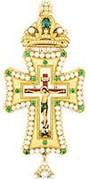 Крест наперсный с украшениями - А283