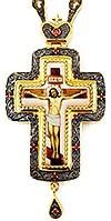 Крест наперсный с украшениями - А284а