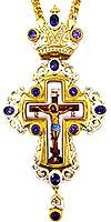 Крест наперсный с украшениями - A323-2