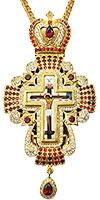 Крест наперсный с украшениями - A327-1