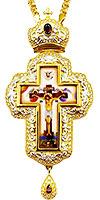Крест наперсный с украшениями- A341-4