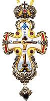 Крест наперсный с украшениями - A343-1