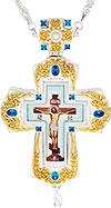 Крест наперсный с украшениями - A354-2