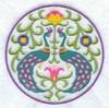 Медальон с павлинами