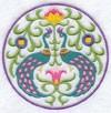 Медальон с павлинами-1