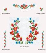 Венгерская вышитая цветами детская сорочка