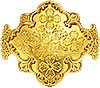 Поднос для богослужебных просфор латунный в позолоте