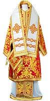 Облачение архиерейское - парча ПГ5 (красное-золото)