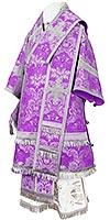 Архиерейское облачение из парчи ПГ4 (фиолетовый/серебро)