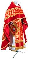Иерейское русское облачение из парчи ПГ2 (красный/золото)