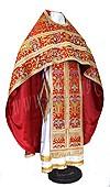 Иерейское русское облачение из парчи ПГ6 (красный/золото)
