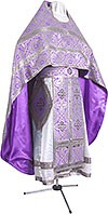 Иерейское русское облачение из шёлка Ш3 (фиолетовый/серебро)