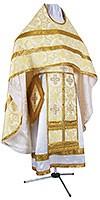 Иерейское русское облачение из шёлка Ш3 (белый/золото)