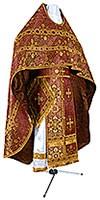 Иерейское русское облачение из шёлка Ш4 (бордовый/золото)