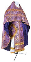 Иерейское русское облачение из шёлка Ш4 (фиолетовый/золото)