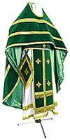 Иерейское греческое облачение из нем. бархата (зелёный/золото)