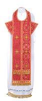 Требный комплект из парчи П (красный/золото)