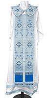 Требный комплект из парчи ПГ2 (синий/серебро)