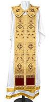 Требный комплект из парчи ПГ2 (бордовый/золото)