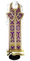Требный комплект из парчи ПГ5 (фиолетовый/золото)